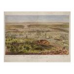 The Port of New York Bird's Eye View in 1872 Postcard