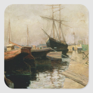 The Port of Odessa, 1900 Square Sticker