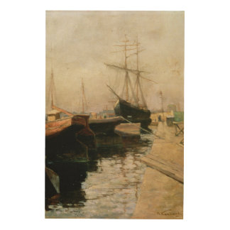 The Port of Odessa, 1900 Wood Print