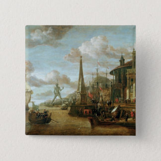 The Port of Rhodes 15 Cm Square Badge
