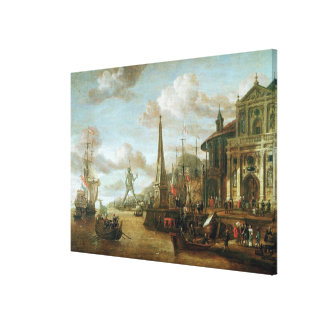 The Port of Rhodes Canvas Print