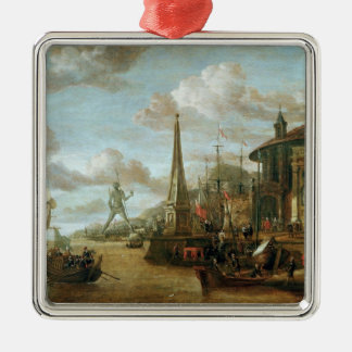 The Port of Rhodes Christmas Ornament