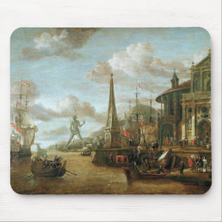 The Port of Rhodes Mouse Mat