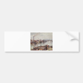 The Port of Rouen 2 by Camille Pissarro Bumper Sticker