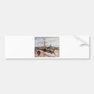 The Port of Rouen by Camille Pissarro Bumper Sticker