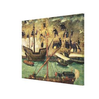 The Port of Seville, c.1590 Canvas Print