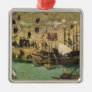 The Port of Seville, c.1590 Christmas Ornament