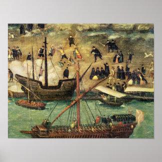 The Port of Seville, c.1590 Poster