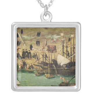The Port of Seville, c.1590 Silver Plated Necklace