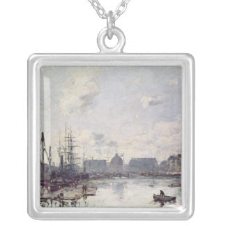 The Port of Trade, Le Havre, 1892 Silver Plated Necklace