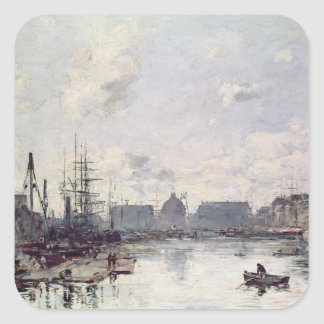 The Port of Trade, Le Havre, 1892 Square Sticker