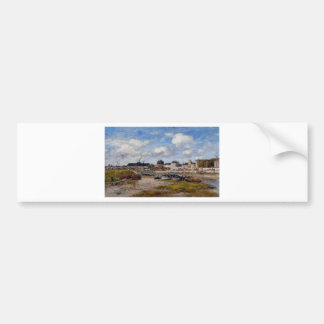 The Port of Trouville, Low Tide by Eugene Boudin Bumper Sticker