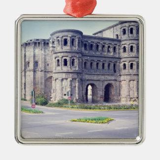 The Porta Nigra, 4th century Silver-Colored Square Decoration