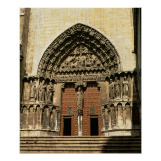 The Portada del Sarmental, south transept Poster