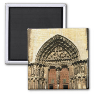 The Portada del Sarmental, south transept Square Magnet