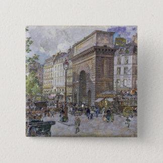 The Porte Saint-Martin, 1898 15 Cm Square Badge