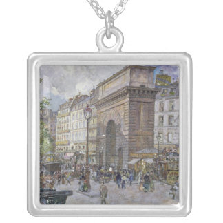 The Porte Saint-Martin, 1898 Silver Plated Necklace