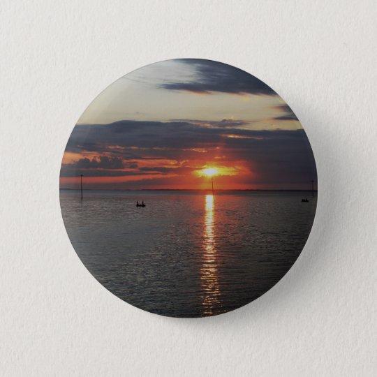 The Porthole Sunrise 6 Cm Round Badge