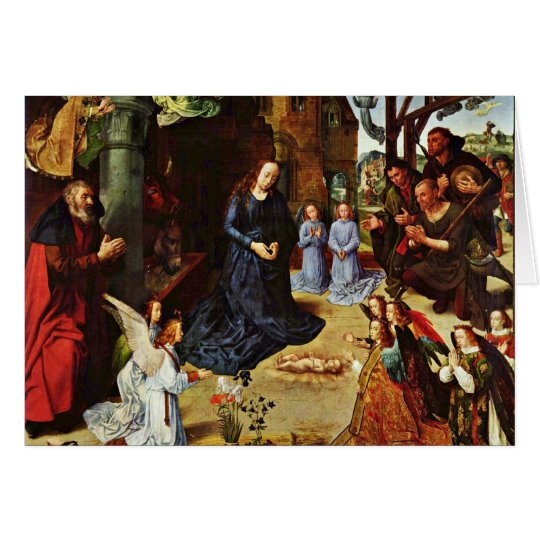The Portinari Tryptich (Middle Panel) By Goes Hugo Card