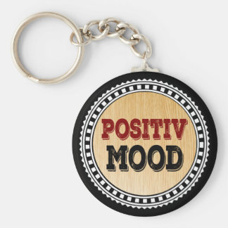 The Positive Mood Basic Round Button Key Ring