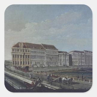 The Post Office in Potsdam, 1784 Square Sticker