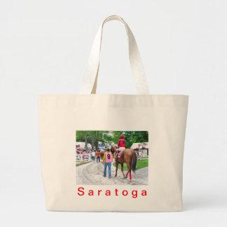 The Post Parade at Saratoga Jumbo Tote Bag