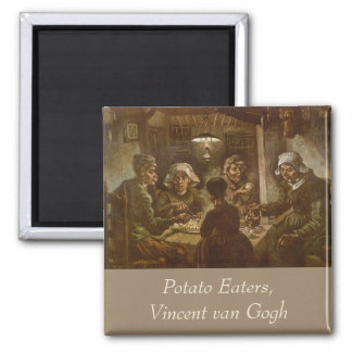The Potato Eaters van Gogh Vintage Impressionism Refrigerator Magnets