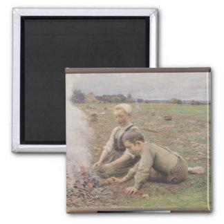 The Potato Gatherers, 1898 Magnet