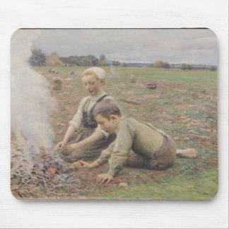The Potato Gatherers 1898 Mousepad