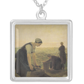 The Potato Harvest Silver Plated Necklace