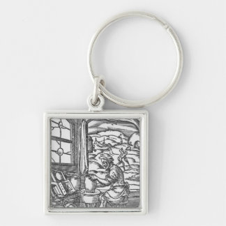 The potter, 1574 Silver-Colored square key ring