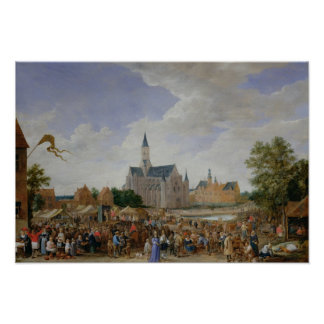 The Potters' Fair at Ghent Poster