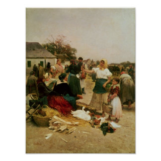 The Poultry Market, 1885 Poster