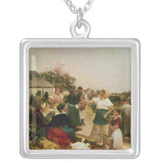 The Poultry Market, 1885 Silver Plated Necklace