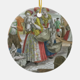 The Poultry Market (coloured engraving) Christmas Ornament