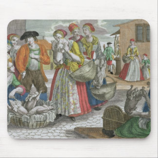The Poultry Market (coloured engraving) Mouse Mat