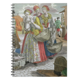 The Poultry Market (coloured engraving) Spiral Notebook