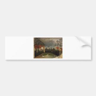 The Poultry Yard by Henri Rousseau Bumper Sticker