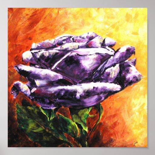 The Power of A Dream (Purple Rose) Fine Art Print