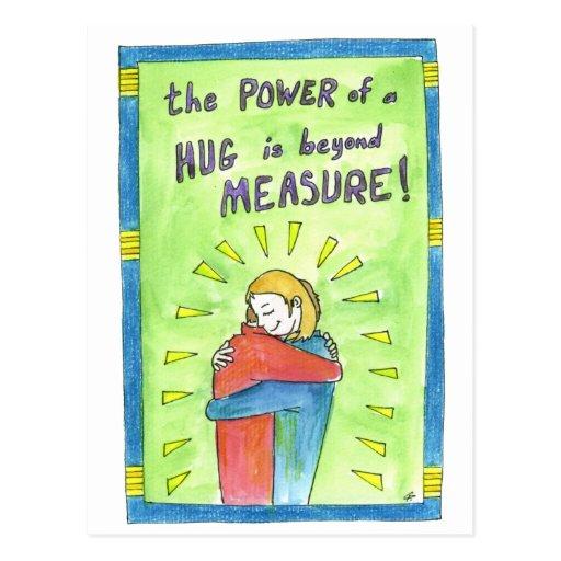 The Power of a Hug Postcard