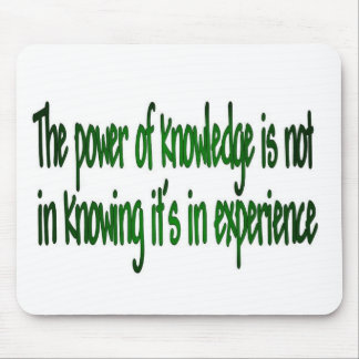 The Power of Knowledge Mousepads