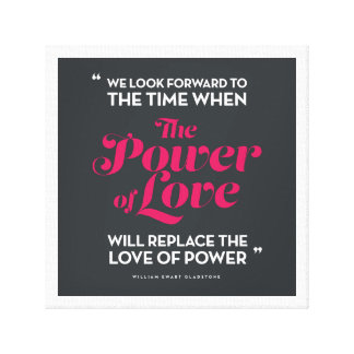 The Power of Love (grey) Canvas Print