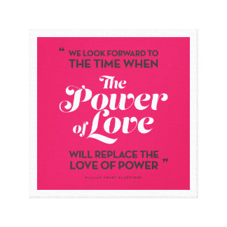 The Power of Love (pink) Canvas Print