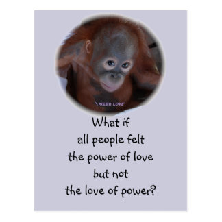 The Power of Love Postcard