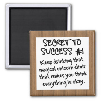 The Power of Positive Thinking Square Magnet