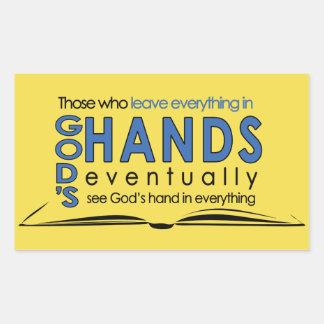 The power of Prayer Rectangular Sticker