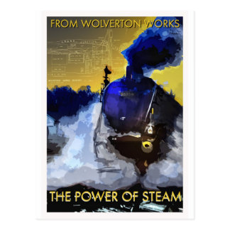 The Power of Steam classic railway postcard