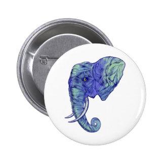 THE POWERFUL ELEPHANT 6 CM ROUND BADGE