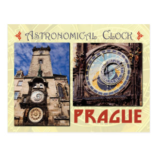 The Prague Astronomical Clock, Czech Republic Postcard
