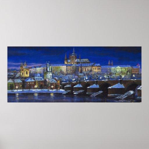 The Prague Panorama Charles Bridge Prague Castle Poster